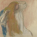 Woman Combing Her Hair, 1894, Edgar Degas