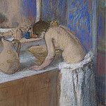Young Woman by the Toilette, 1895, Эдгар Дега