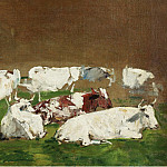 Sotheby's - Eugene Boudin - Cows (study)