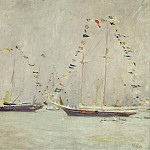 Sotheby's - Paul Cesar Helleu - Yachts with Ensigns