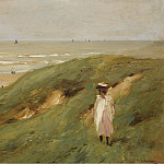 Картины с аукционов Sotheby's - Max Liebermann - Dune near Nordwijk with Child, 1906