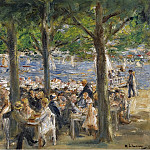 Картины с аукционов Sotheby's - Max Liebermann - Beer Garden near the Havel under the Trees, 1920-22