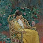 Картины с аукционов Sotheby's - Henri Lebasque - Young Woman with a Dove