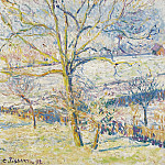 Картины с аукционов Sotheby's - Camille Pissarro - Big Nut-Tree, the Frost at Eragny, 1892