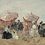 Sotheby's - Eugene Boudin - Scene on the Beach, 1894