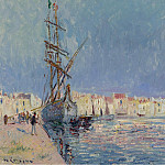 Картины с аукционов Sotheby's - Gustave Loiseau - The Martigues, the Port of Ferriere, 1913