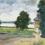 Картины с аукционов Sotheby's - Lesser Ury - House by the Lake