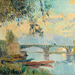 Картины с аукционов Sotheby's - Albert Lebourg - The Bridge of Chatou, 1905