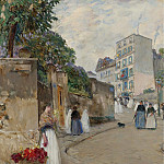 Sotheby's - Frederick Childe Hassam - The Street of Montmartre, Paris