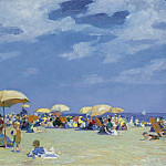 Sotheby's - Edward Henry Potthast - Beach at Far Rockaway