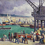 Sotheby's - Maximilien Luce - Rouen, the Port, 1913