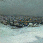 Sotheby's - Henri Le Sidaner - Snow under the Moon, 1903