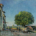 Картины с аукционов Sotheby's - Alfred Sisley - The Chestnut Tree at Saint-Mammes, 1880