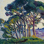 Sotheby's - Maximilien Luce - Pines near Cannebiers, 1903