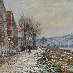 The Riverbank at Lavacourt, Snow, 1879, Claude Oscar Monet