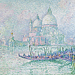 Картины с аукционов Sotheby's - Paul Signac - Venice. The Salute. Green, 1908