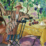 Henri Lebasque, the Garden at Summer (Pierre and Nono under the Grapes), 1920, Анри Лебаск