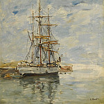 Sotheby's - Eugene Boudin - Anchored Three-Master, 1894-97