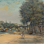 Картины с аукционов Sotheby's - Jean-Francois Raffaelli - The Istitute of France and the Bridge of Arts
