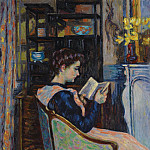 Картины с аукционов Sotheby's - Armand Guillaumin - Mademoiselle Guillaumin Reading, 1907