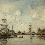 Fecamp, the Basin, 1894, Eugene Boudin