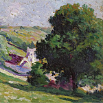 Sotheby's - Maximilien Luce - Moulineaux, Group of Trees near the Village