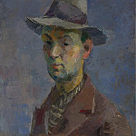 Sotheby's - Robert Falk - Self Portrait with Gray Hat, 1931