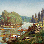 Sotheby's - Emile Bernard - The Banks of the Marne at La Varenne, 1921