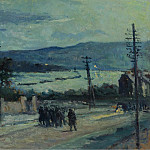 Sotheby's - Maximilien Luce - Rolleboise, the Road, 1917