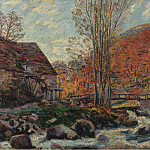 Картины с аукционов Sotheby's - Armand Guillaumin - The Watermill, 1893