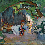 Young Woman at Hammock, 1923, Анри Лебаск
