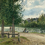 The Banks of the Oise at Pontoise, 1868-70, Camille Pissarro