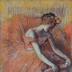 Картины с аукционов Sotheby's - Edgar Degas - The Dancer Taking off the Sandale, 1896