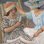 Sotheby's - Henri Lebasque - Marthe and Nono, 1917