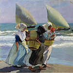 Three Sails, 1903, Joaquin Sorolla y Bastida