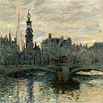 The Bridge in Amsterdam, 1874, Клод Оскар Моне