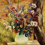Картины с аукционов Sotheby's - Marcel Dyf - The Vase with Fields Flowers, 1950
