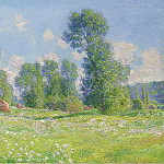 Картины с аукционов Sotheby's - Claude Monet - Spring Effect at Giverny, 1890