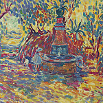 Saint-Tropez, Girls near the Fountain, 1906, Анри Лебаск
