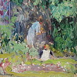 Sotheby's - Henri Lebasque - Madame Lebasque and Her Daughter in the Gadren