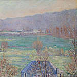 Sotheby's - Blanche Hoschede-Monet - Blue House in the Outskirts of Giverny