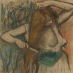 Woman Arranging Her Hair, 1894, Edgar Degas
