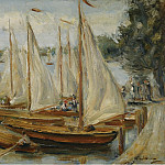 Sotheby's - Max Liebermann - Sailing Boats on Wannsee Lake, 1922