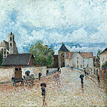Sotheby's - Alfred Sisley - Moret-sur-Loing, the Rain, 1887-88