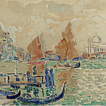 Картины с аукционов Sotheby's - Paul Signac - View of Venice, 1904