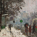Sotheby's - Pierre-Eugene Montezin - Bineau Boulevard under the Snow