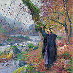 Картины с аукционов Sotheby's - Paul Madeline - Peasant Girl at the Riverbank
