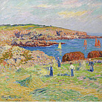 Картины с аукционов Sotheby's - Henry Moret - Hay Stacking at the Port of Doelan, 1908