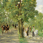Sotheby's - Max Liebermann - Path in the Tiergarten with Riders and Strollers, 1923