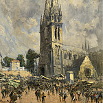 Картины с аукционов Sotheby's - Frank Myers Boggs - The Church in Normandie